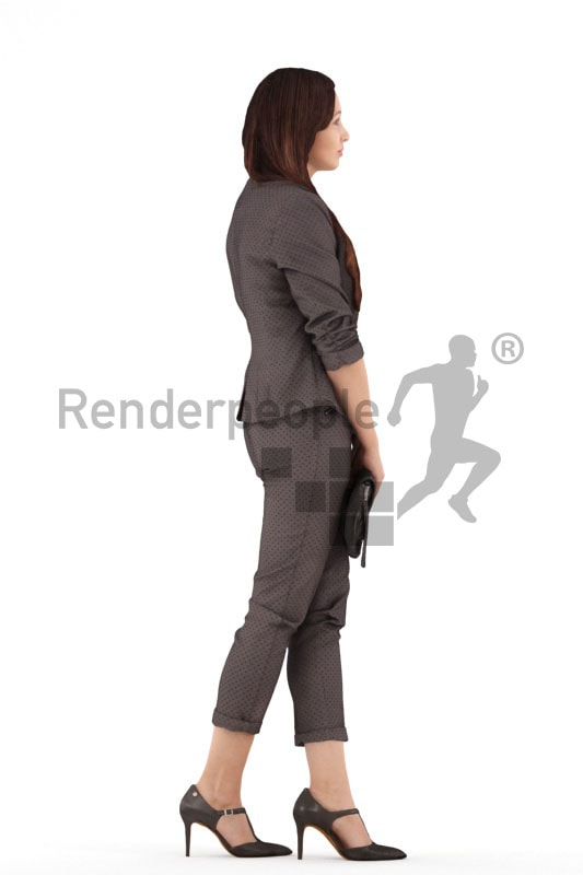 3d people business, 3d woman holding purse