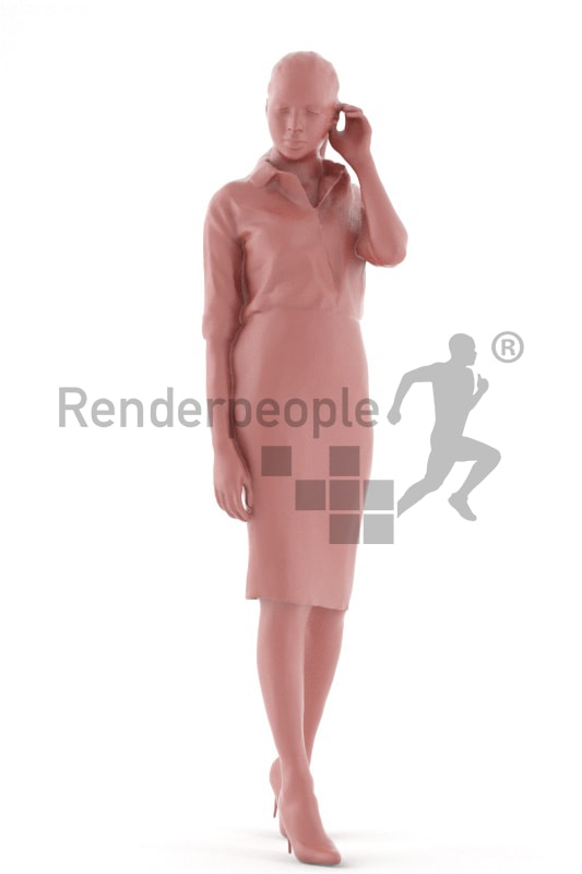 3d people business, attractive 3d woman standing
