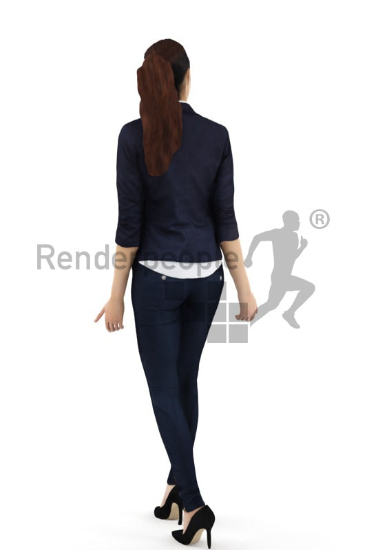 3d people business, attractive surprised 3d woman