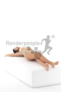 3d people swimwear, attractive 3d woman lying