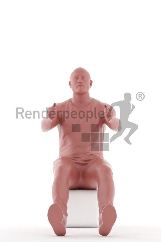 3d people casual, white 3d woman sitting and driving