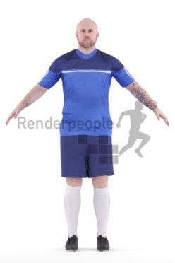 Rigged 3D People model for Maya and Cinema 4D – european man in sports clothing