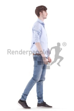 3d people casual, white 3d man holding helmet