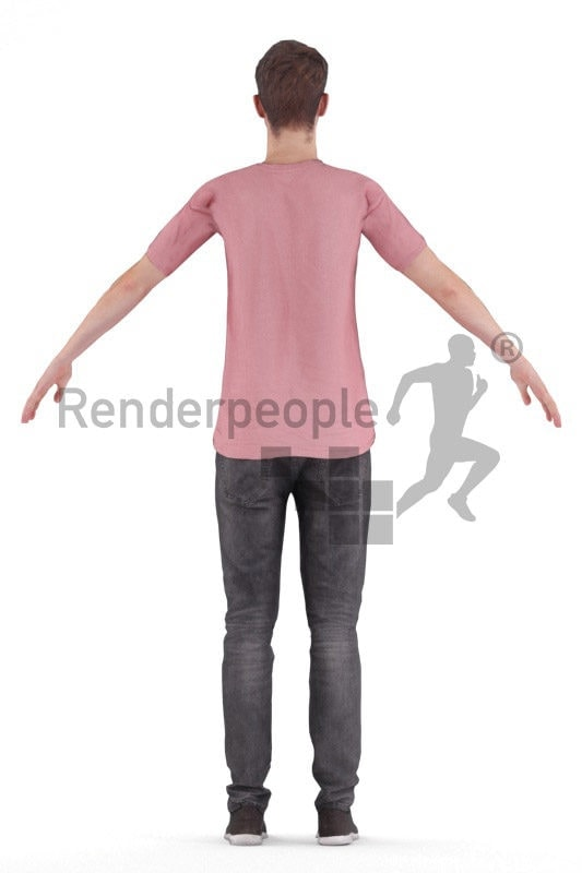Rigged 3D People model for Maya and 3ds Max – white man in casual look