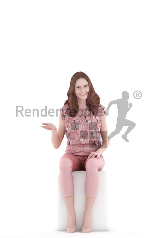 3d people event, white 3d woman