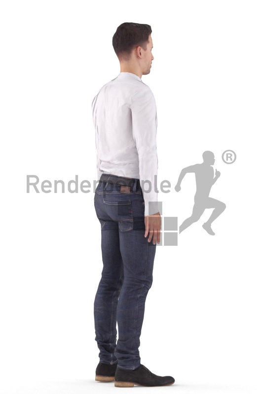Human 3D model for animations – european man, business, standing