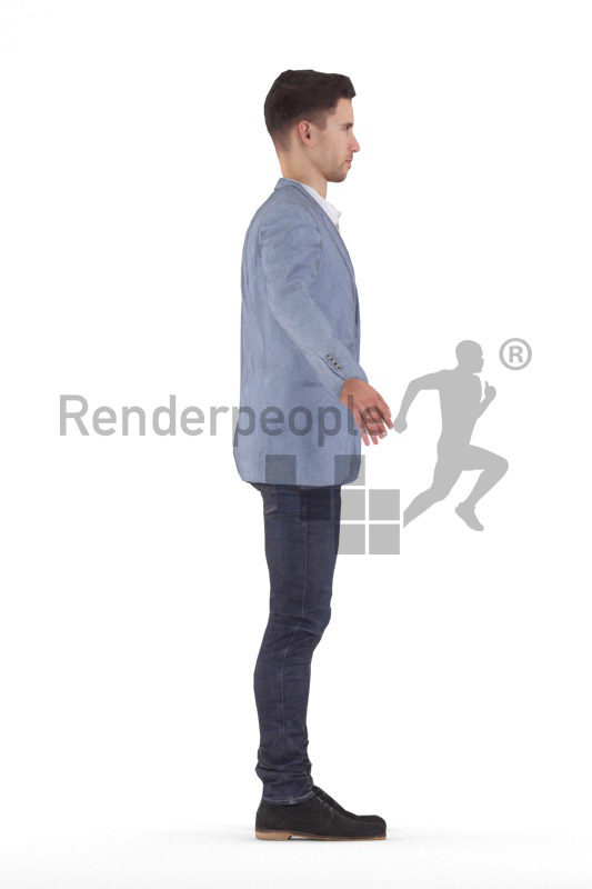 Rigged 3D People model for Maya and 3ds Max – white man in business suit
