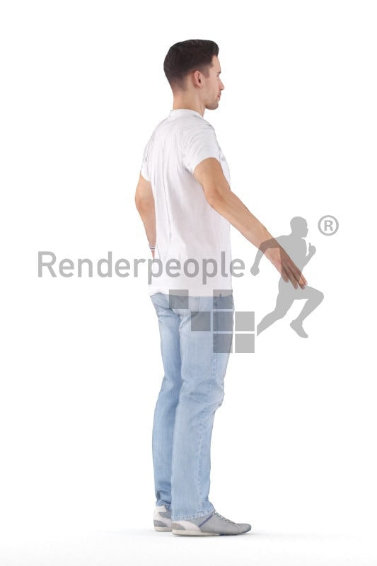 Rigged 3D People model for Maya and 3ds Max – white man, casual