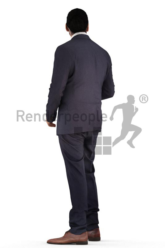 3d people business, indian 3d man standing