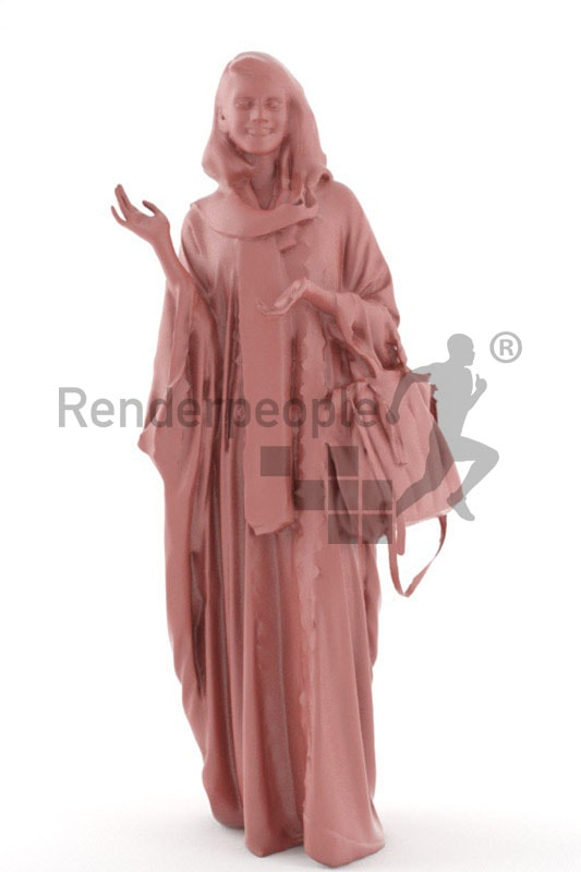 3d people casual, indian 3d woman in traditional clothes
