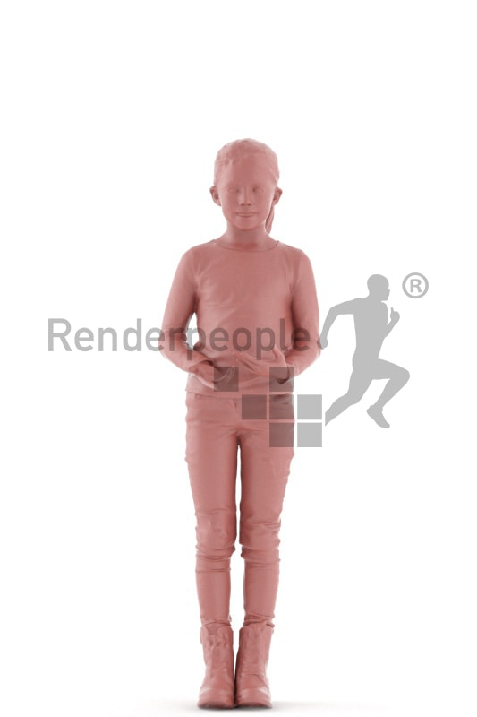 3d people casual, white 3d kid standning and discussing