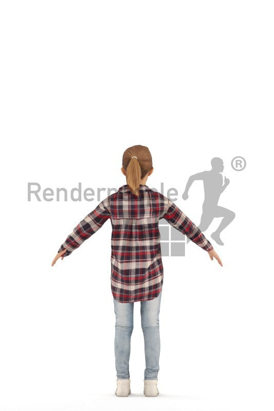 3d people casual, 3d white girl rigged