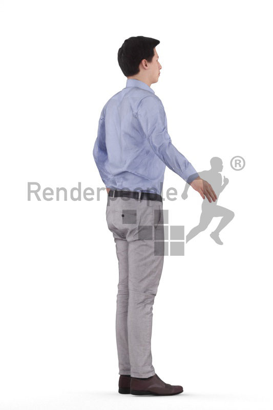 Rigged 3D People model for Maya and Cinema 4D – european man in office look