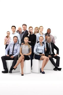 Scanned 3D People model for visualization – business bundle