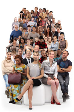 Posed 3D People model by Renderpeople – bundle, sitting people