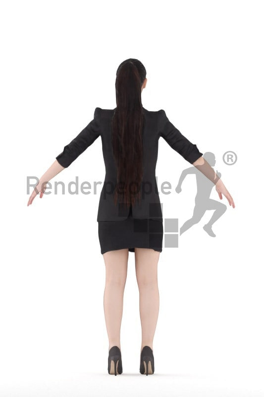 Rigged 3D People model for Maya and 3ds Max –Asian woman, business