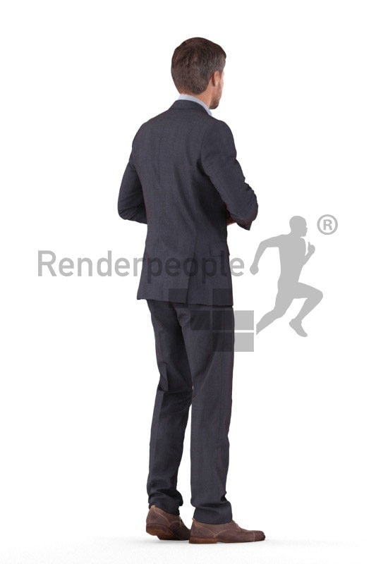3D People model for 3ds Max and Maya – european male in business suit