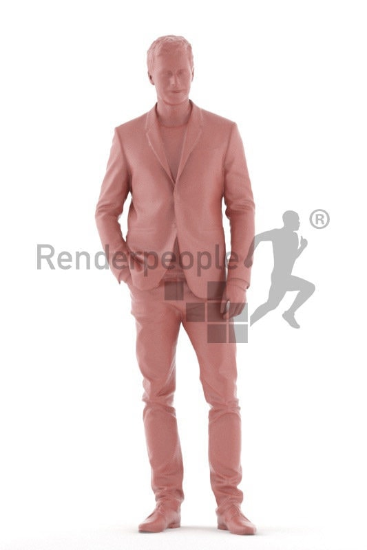 Scanned human 3D model by Renderpeople – eropean man in business suit, standing