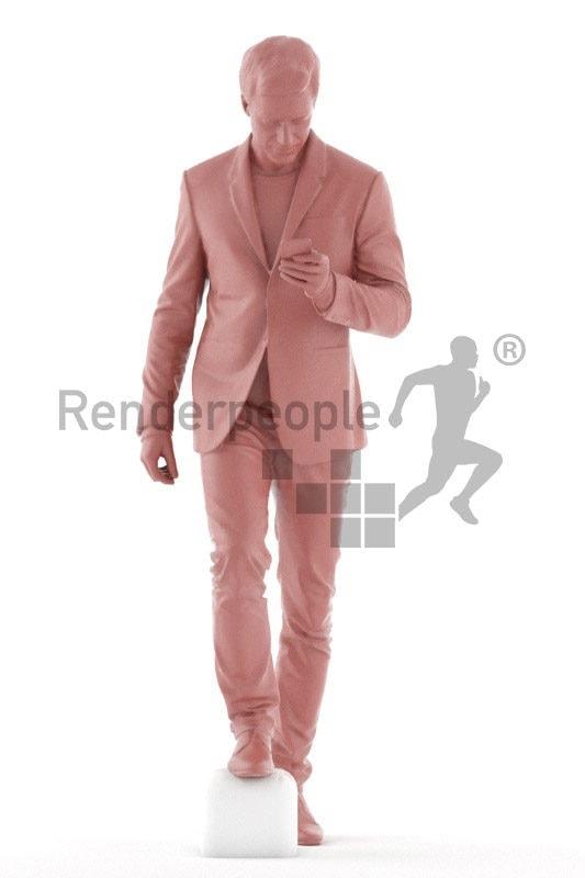 Scanned human 3D model by Renderpeople –