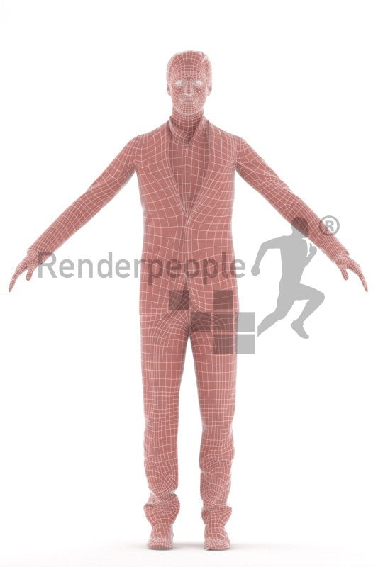 3d people business,3d white man rigged