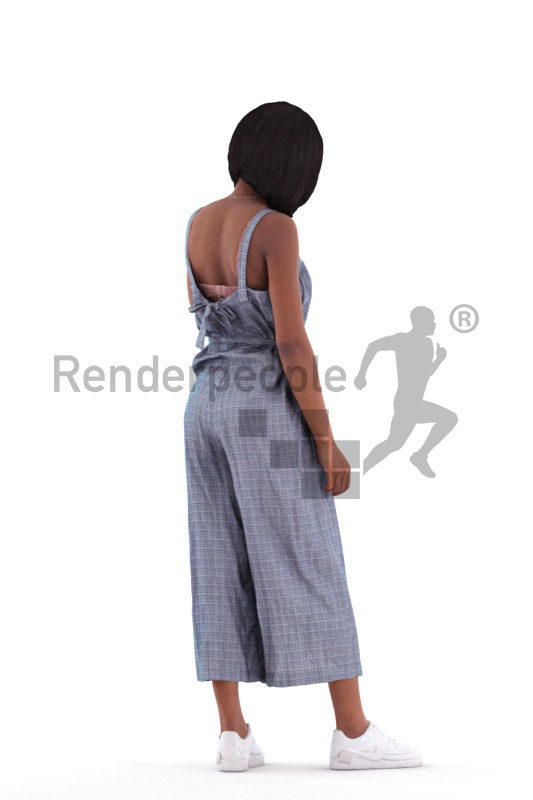 3d people casual, 3d black woman pointing