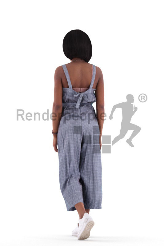 3d people casual, 3d black woman walking