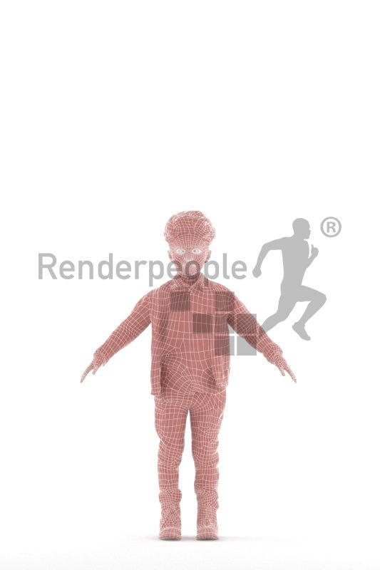 Rigged and retopologized 3D People model –