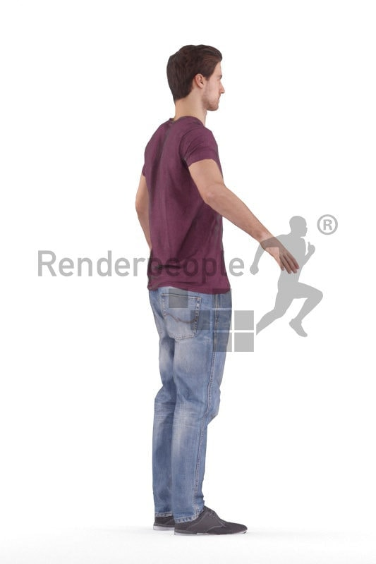 Rigged 3D People model for Maya and Cinema 4D –white man, casual look