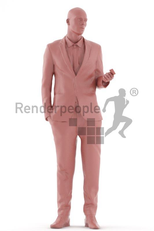 3d people business, black 3d man standing