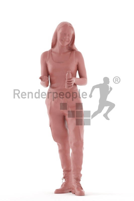 Scanned human 3D model by Renderpeople – white woman
