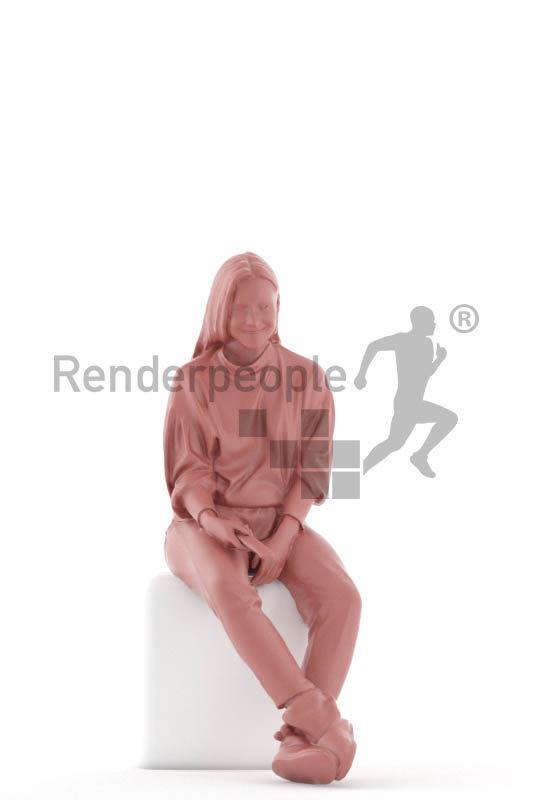 """Photorealistic 3D People model by Renderpeople – """""""""""