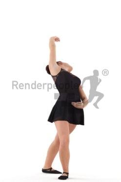 Scanned human 3D model by Renderpeople – woman dancing ballet