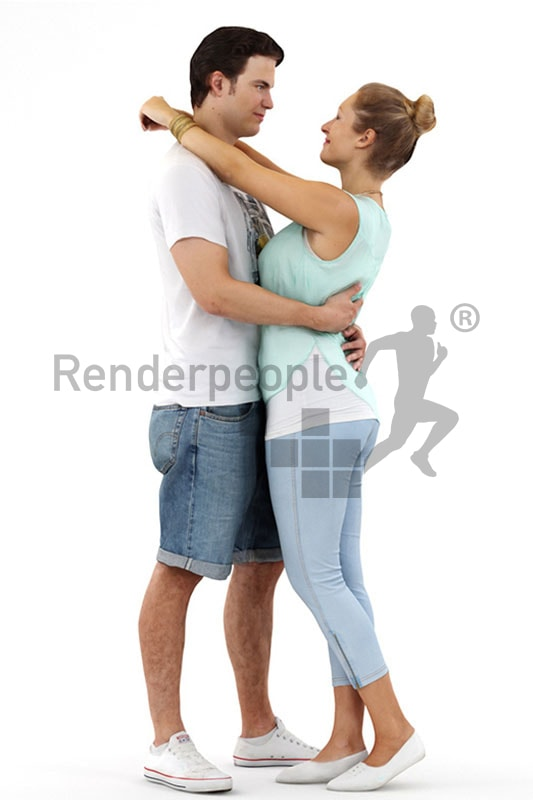 3d people, 3d couple