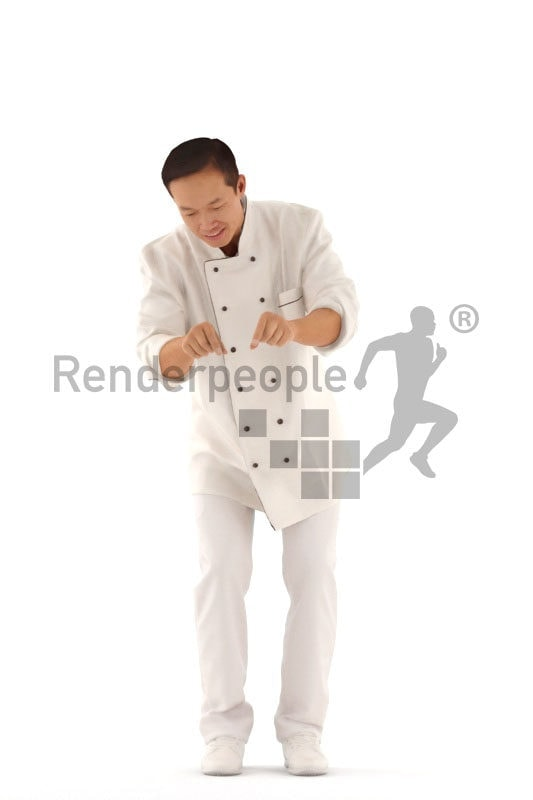 Posed 3D People model by Renderpeople – asian gourmet, cooking