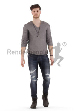 Animated 3D People model for realtime, VR and AR – """"