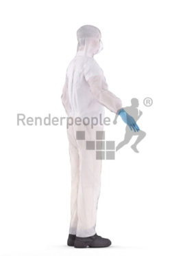 3d people medical, white 3d man rigged