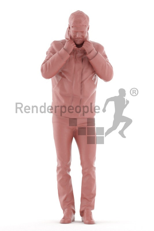 3d people healthcare, white 3d man standing