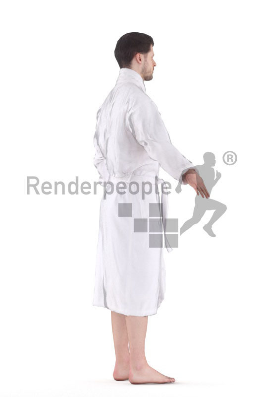 3d people spa, white 3d man rigged