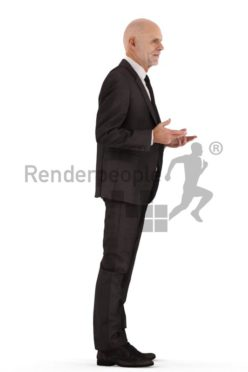 3d people business, best ager man standing and talking