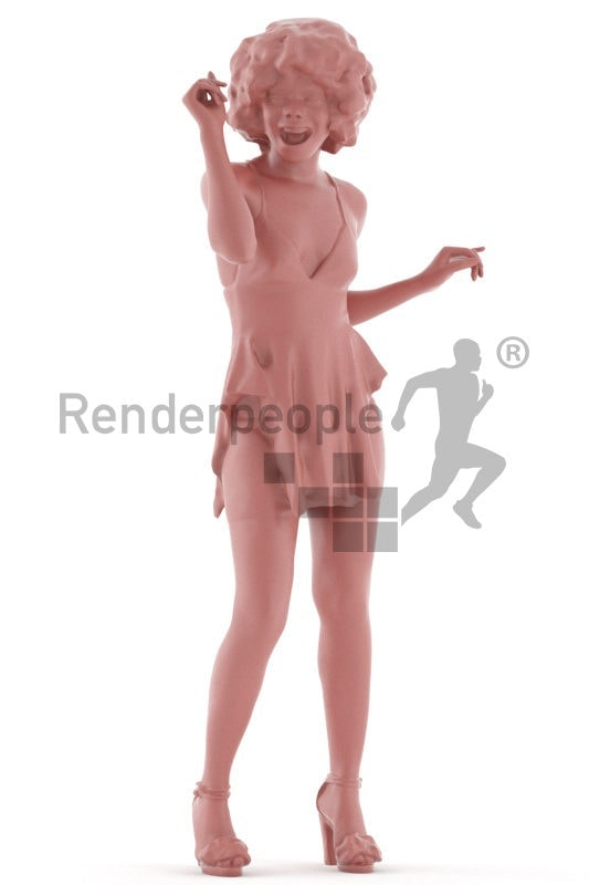3d people event, black 3d woman dancing