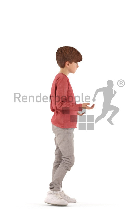 3d people casual, white 3d kid standing and discussing