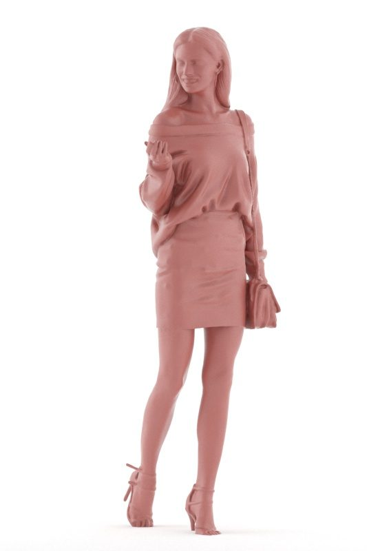 3D People model for 3ds Max and Cinema 4D – european woman, event, walking and interacting