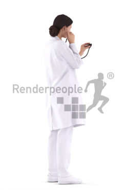 3D People model for 3ds Max and Sketch Up, doctor, woman, examining