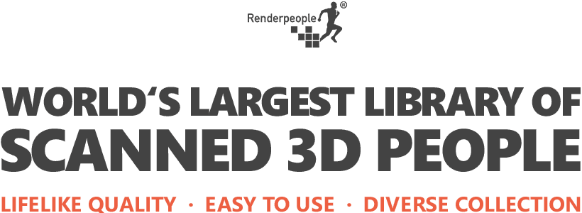 Over 3,000 scanned 3D People models | RENDERPEOPLE
